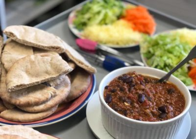 Mexican Beans & Wholemeal Pita Pockets
